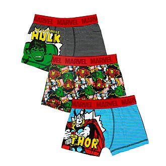 Boxer bimbi Marvel Disney Store, confezione da 3