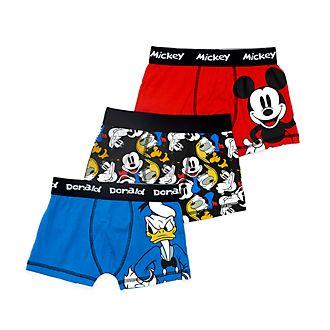 Calzoncillos bóxer infantiles Mickey y sus amigos, Disney Store (3u.)