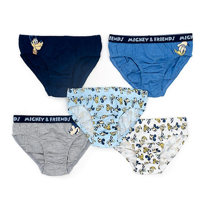 Disney Store Mickey and Friends Briefs For Kids, Pack of 5