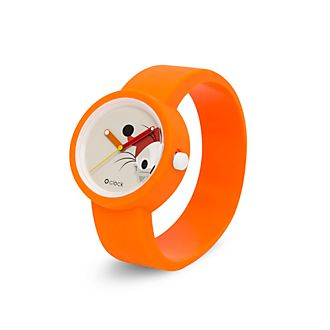 O Bag - O Clock - Dussel Duck - orangefarbene Armbanduhr