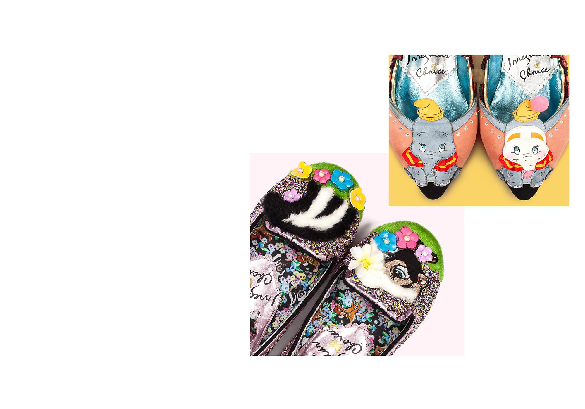 Every Shoe Tells a Story From embellished heels, to tiny intricate charms, to lavish fabrics and mesmerising colours, everyone has a Disney and Irregular Choice favourite shoe or story.