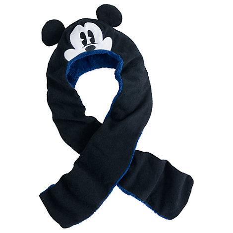 Mickey Mouse hue og halstørklæde i ét til børn