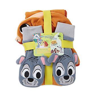 Disney Store Accessoires d'hiver La Belle et le Clochard pour enfants, Furrytale Friends