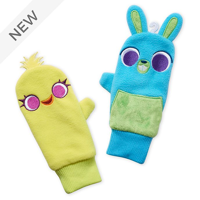 Disney Store Ducky and Bunny Mittens For Kids