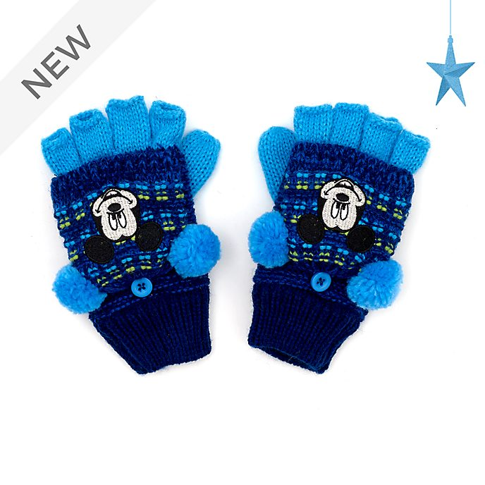 Disney Store Mickey Mouse Convertible Fingerless Gloves For Kids