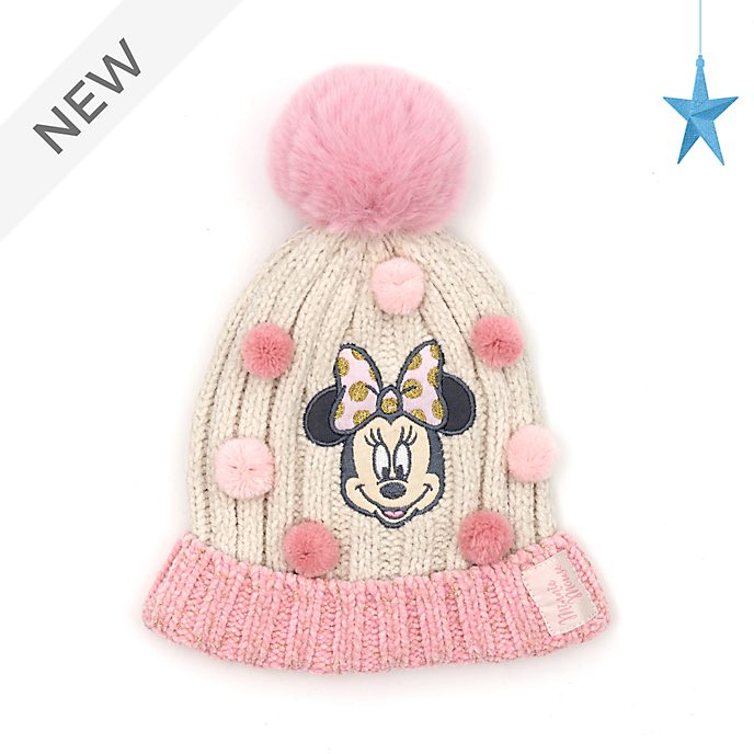 Disney Store Minnie Mouse Knitted Hat For Kids