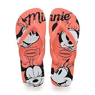 Havaianas Minnie Mouse Orange Flip Flops For Adults