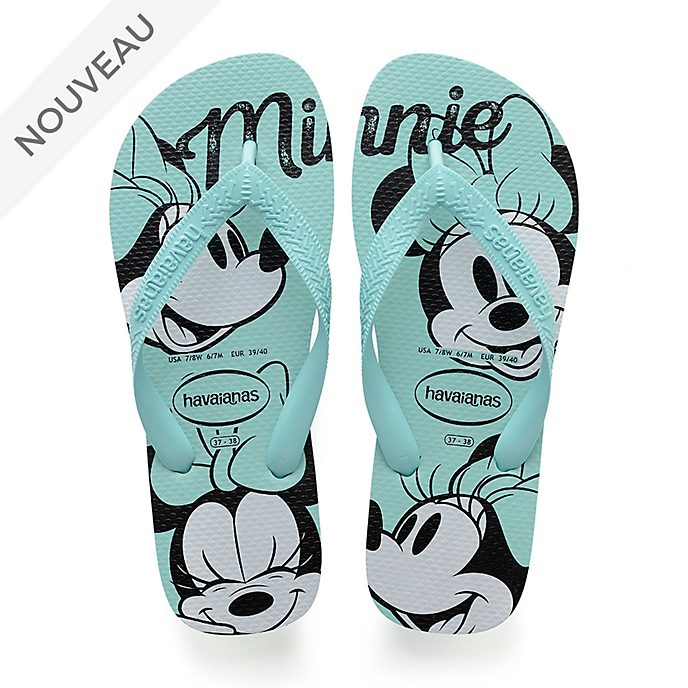 Havaianas Tongs Minnie bleues pour adultes