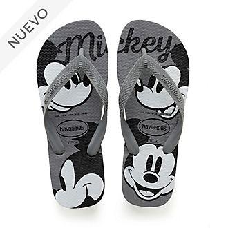 Chanclas Mickey Mouse gris para adultos, Havaianas
