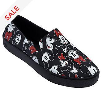 Micky und Minnie - Slipper für Erwachsene in schwarz
