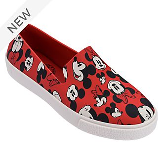Mickey and Minnie Red Slip-On Shoes For Adults