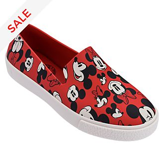 Micky und Minnie - Slipper für Erwachsene in rot