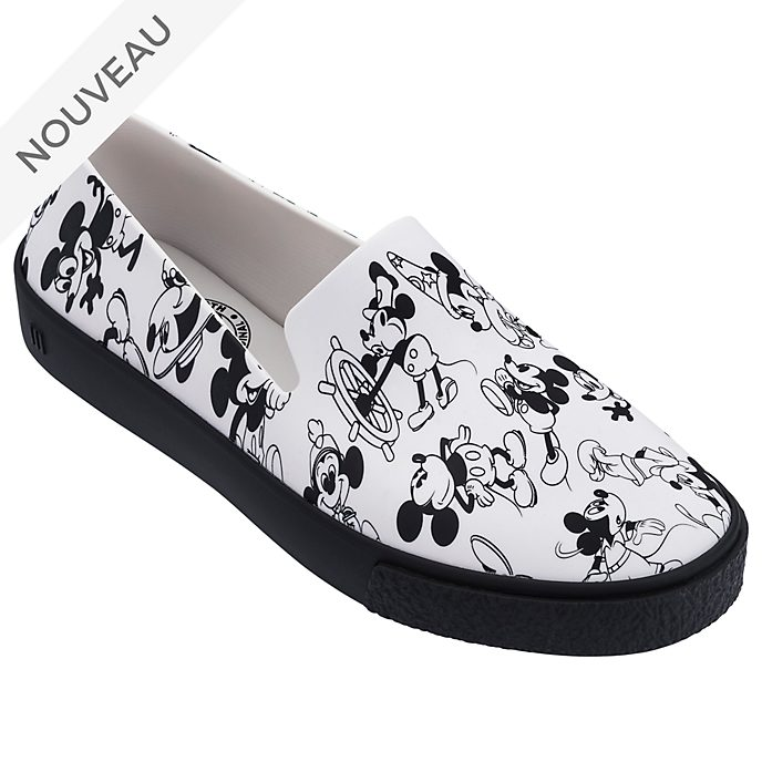 Chaussures Slip-on Mickey blanches pour adulte