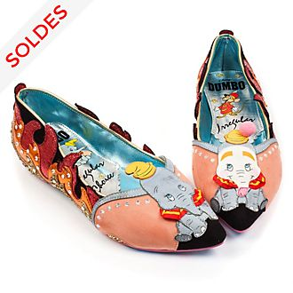 Chaussures plates Dumbo pour femmes, Irregular Choice X Disney Dumbo