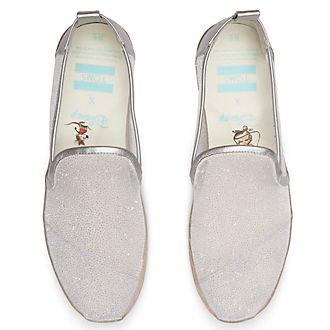Zapatos Cenicienta de tela señora, TOMS