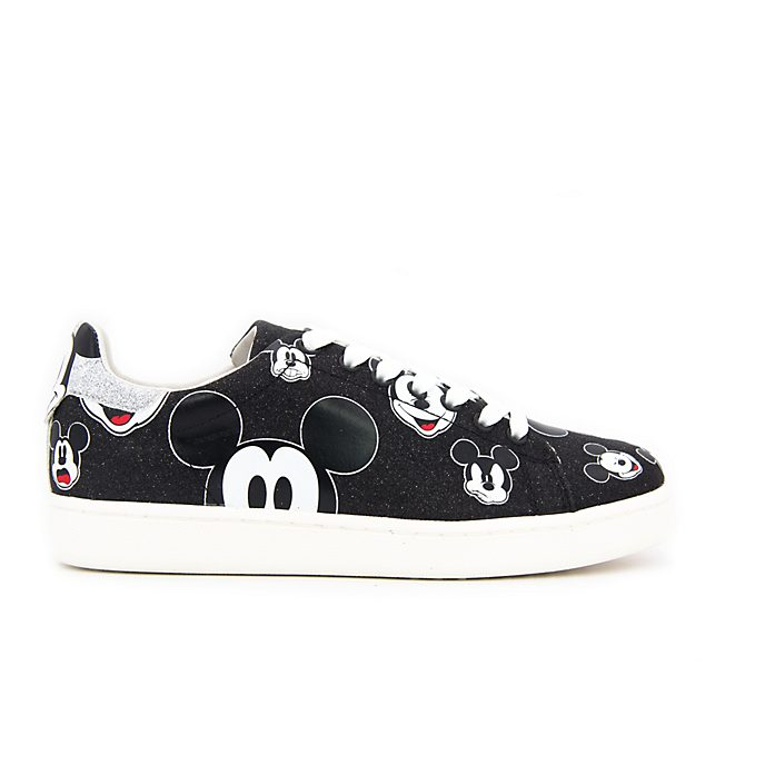 Master of Arts Baskets Mickey Mouse à paillettes noires pour adultes