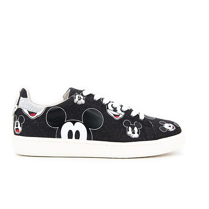 Deportivas purpurina negra Mickey Mouse para adultos, Master of Arts