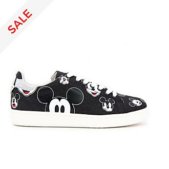 Master of Arts Mickey Mouse Black Glitter Trainers For Adults