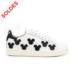 Master of Arts Baskets Mickey Mouse noir et blanc pour adultes