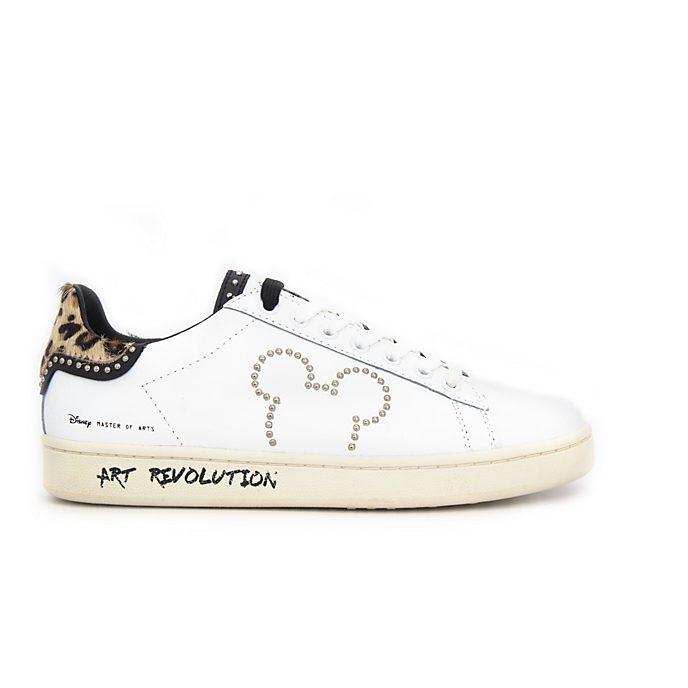 Scarpe sportive adulti in pelle colore bianco Topolino Master of Arts
