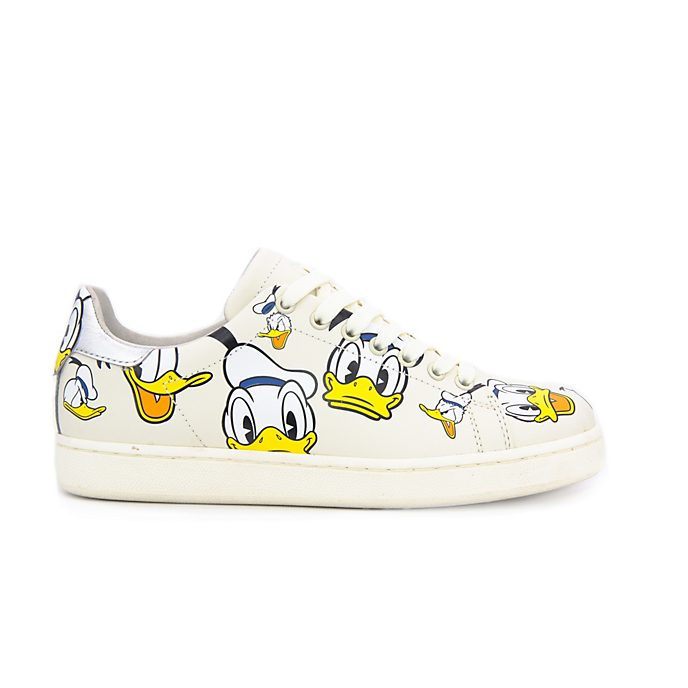 Master of Arts Baskets Donald Duck en cuir crème pour adultes