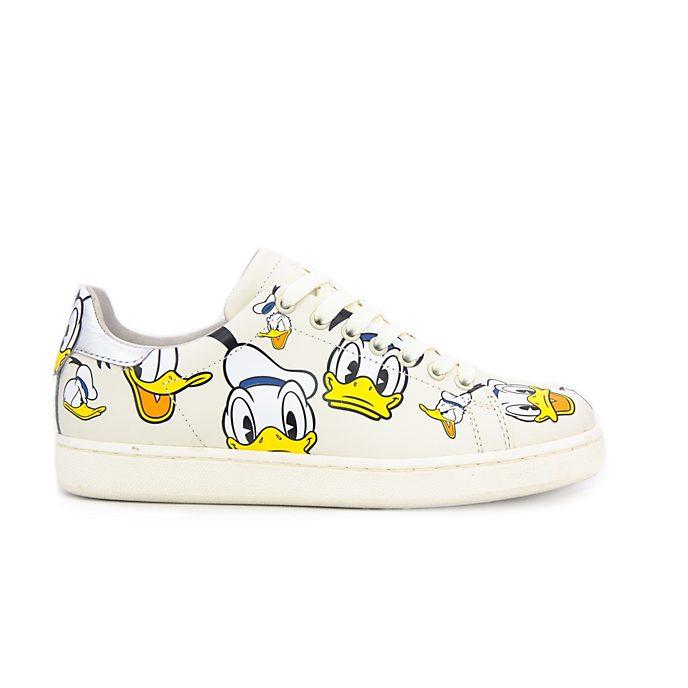 Master of Arts - Donald Duck - Cremefarbene Lederturnschuhe für Erwachsene