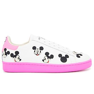 Master of Arts Baskets Mickey Mouse rose et blanc pour adultes