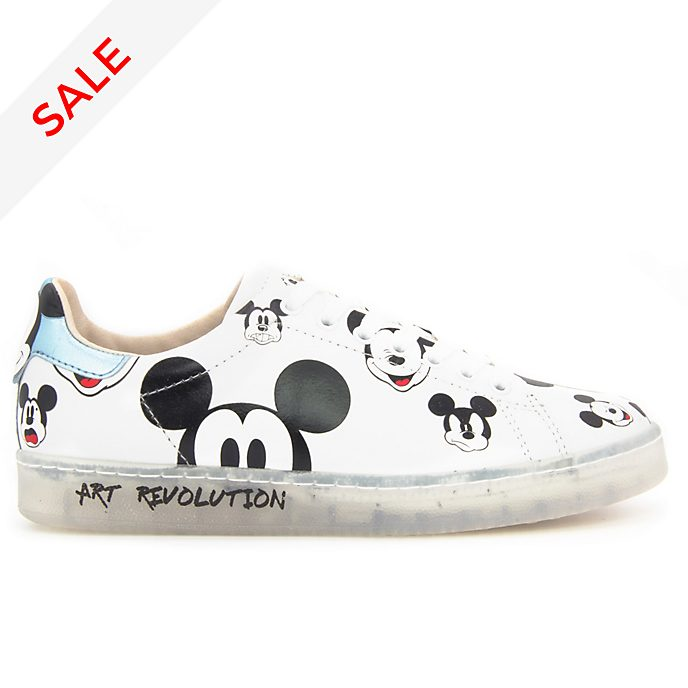 Master of Arts Mickey Mouse White Trainers for Adults
