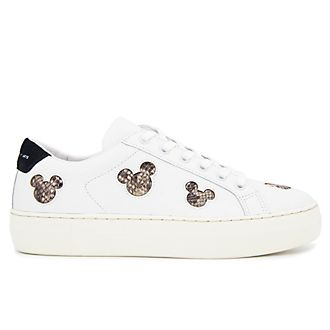 Master of Arts Baskets Mickey Mouse blanc et serpent pour adultes