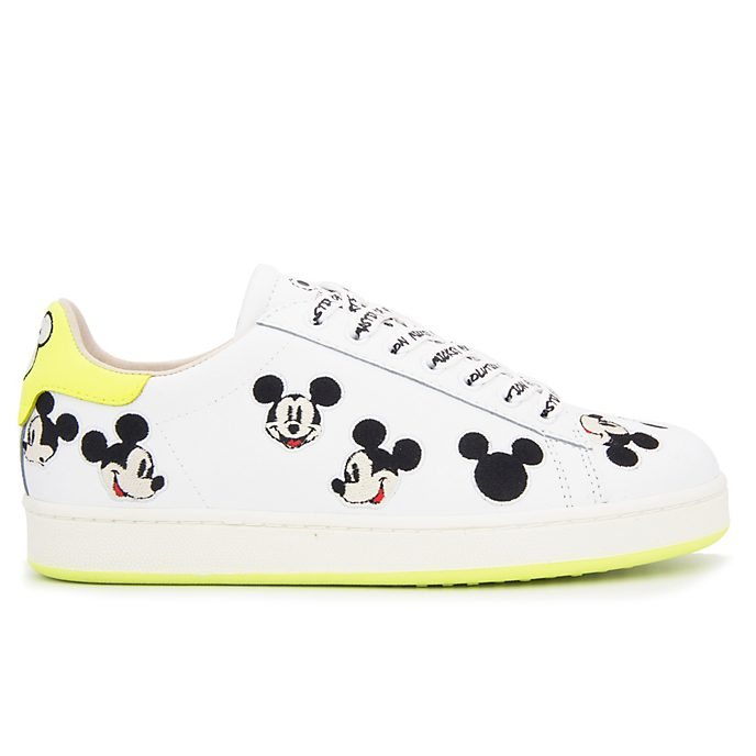 Master of Arts Baskets Mickey Mouse jaune et blanc pour adultes