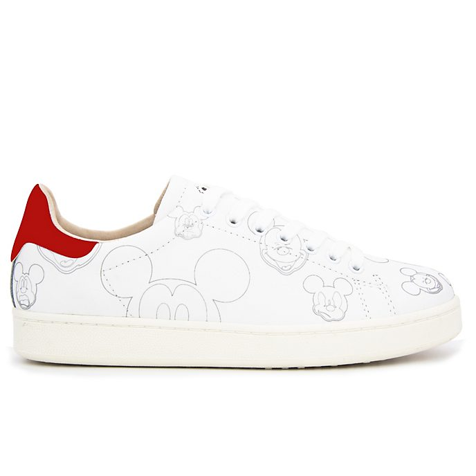 Master of Arts Baskets Mickey Mouse rouge et blanc pour adultes