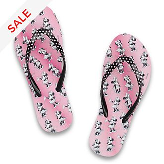 De Fonseca Minnie Mouse Pink Flip Flops For Adults