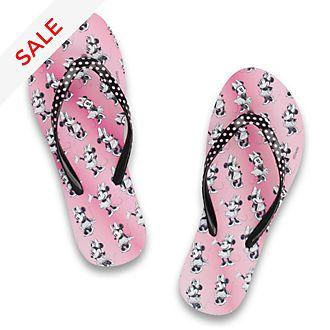 De Fonseca - Minnie Maus - Flip Flops in pink für Erwachsene