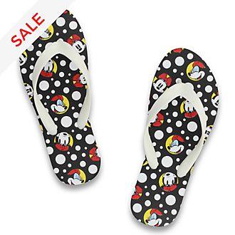 De Fonseca Minnie Mouse Black Flip Flops For Adults
