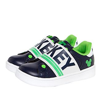 Arnetta Mickey Mouse Navy and Green Trainers For Adults