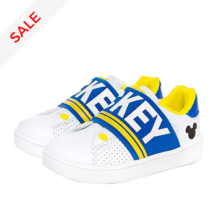 Arnetta Mickey Mouse White and Blue Trainers For Adults
