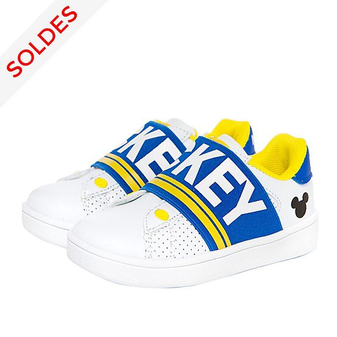 Arnetta Baskets Mickey Mouse blanc et bleu pour adultes