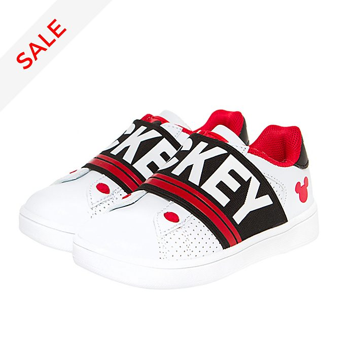 Arnetta Mickey Mouse White and Red Trainers For Adults