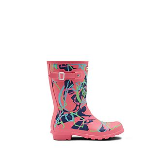 Hunter Mary Poppins Returns Pink Wellington Boots For Adults