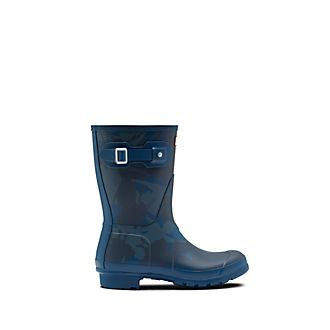 Hunter Mary Poppins Returns Blue Wellington Boots For Adults