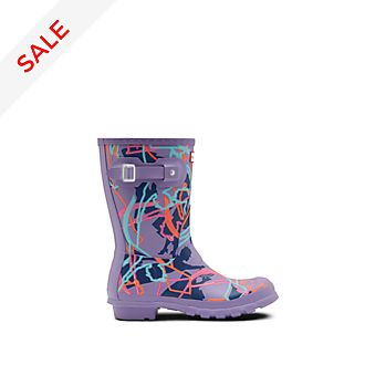 Hunter Mary Poppins Returns Purple Wellington Boots For Adults