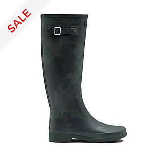 Hunter Mary Poppins Returns Long Green Wellington Boots For Adults