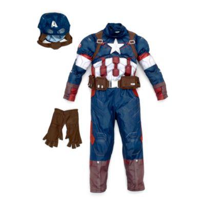 Captain America - Kostüm Deluxe für Kinder