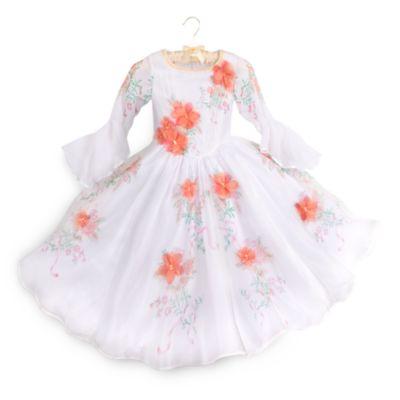 Belle Deluxe hvid udklædningskjole til børn, Skønheden og Udyret