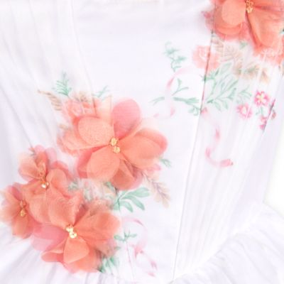 Costume bianco bimbi deluxe celebration Belle, La bella e la bestia
