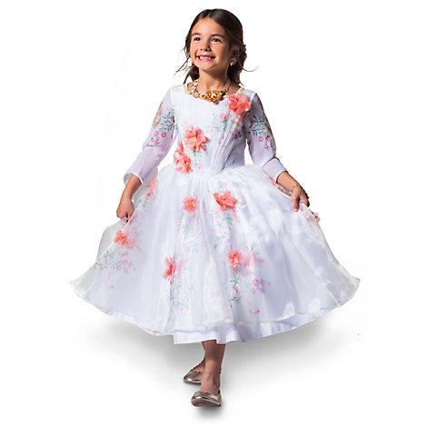 Vestido blanco infantil exclusivo de celebración de Bella, La Bella y la Bestia