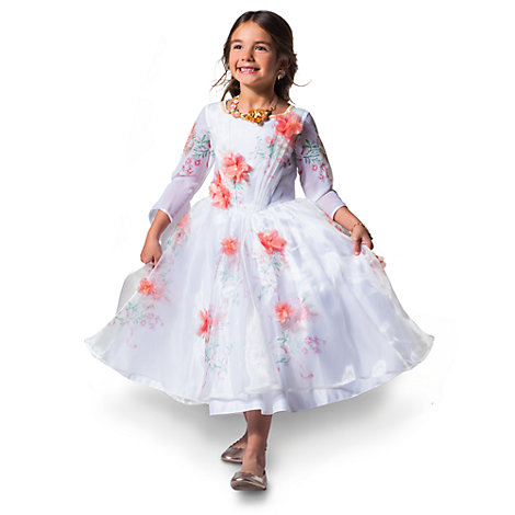Belle Deluxe White Celebration Costume Dress For Kids, Beauty and the Beast