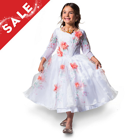 Belle Deluxe White Celebration Costume Dress For Kids Beauty And The Beast
