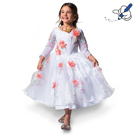 robe de d guisement blanche belle pour enfants la belle et la b te. Black Bedroom Furniture Sets. Home Design Ideas