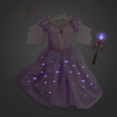 Rapunzel upplyst maskeraddräkt deluxe